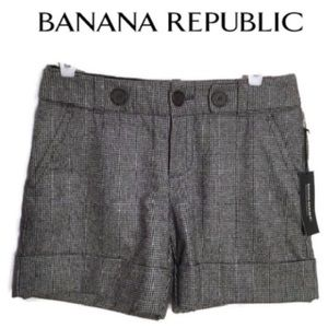 Banana Republic Herringbone Martin Shorts 4 New